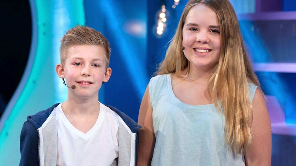 Ett av lagen i andra semifinalen är Otto Åberg och Hedda Roswall från Norrbackaskolan i Visby.