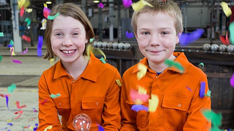 Montessoriskolan Regnbågen från Kalmar vann Vi i femman 2015! Foto: SVT