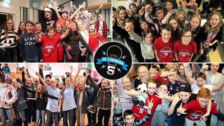 Här är klasserna som gick till final i Vi i femman 2017. De kommer från P4 Jämtland, P4 Västernorrland, P4 Värmland, P4 Västmanland.