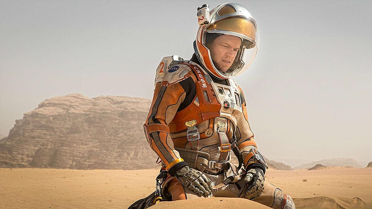 Matt Damon spelar astronauten som blev kvar på Mars i filmen The Martian i regi av Ridley Scott. Foto: Twentieth Century Fox
