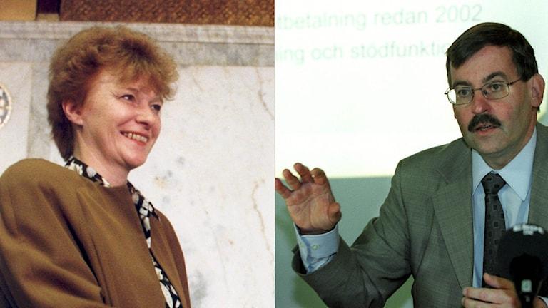 Bostadsministrar Birgit Friggebo och Lars-Erik Lövdén.