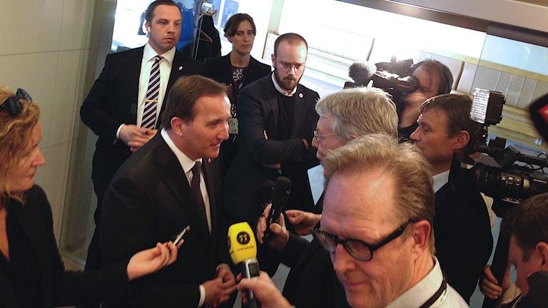 Statsminister Stefan Löfven pressträff
