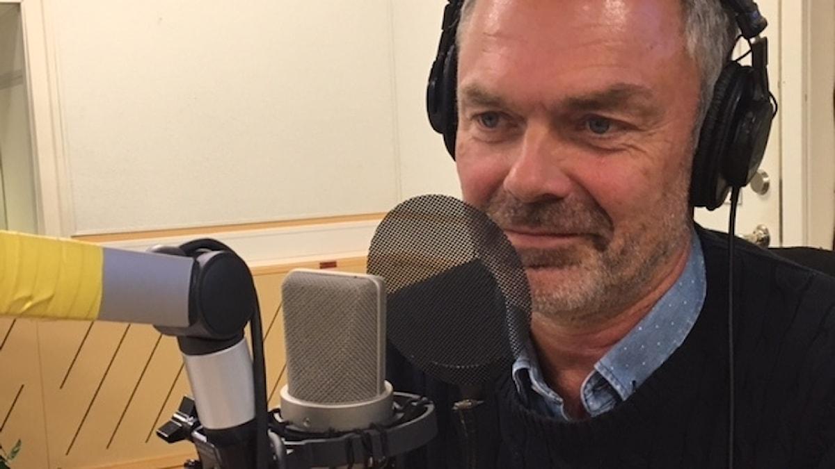 Jan Björklund i studio.