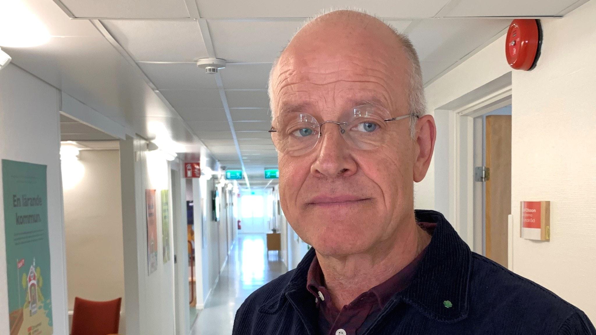 Kommunstyrelsens ordförande Jacob Spangenberg (C) och partikollegan Bertil Alm är oense i slutförvarsfrågan.