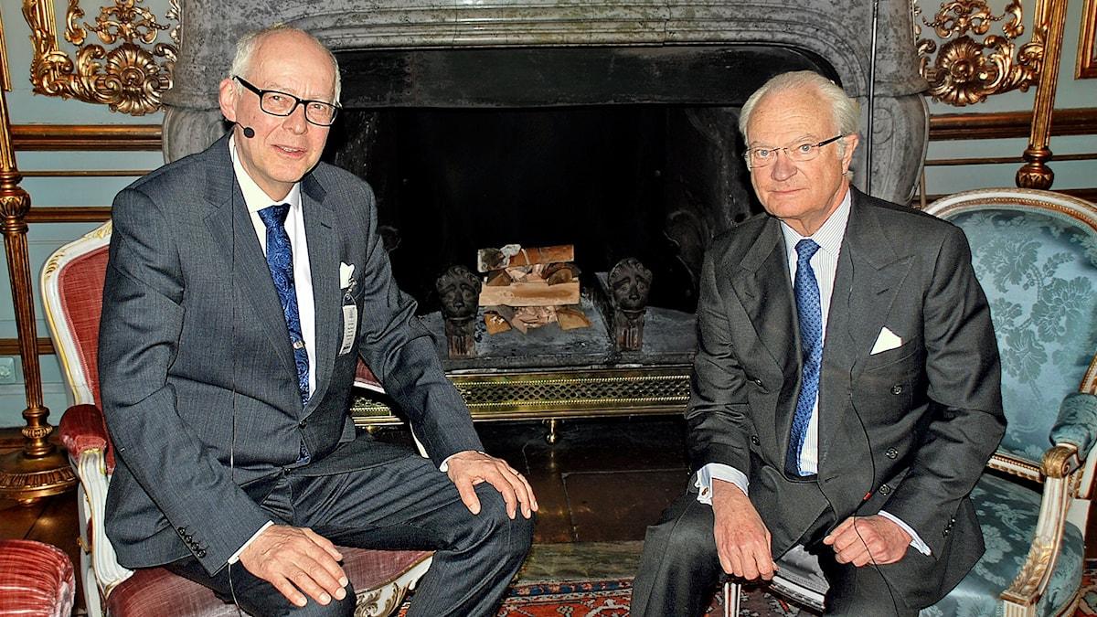 Bengt Hansell och Kung Carl XVI Gustaf.