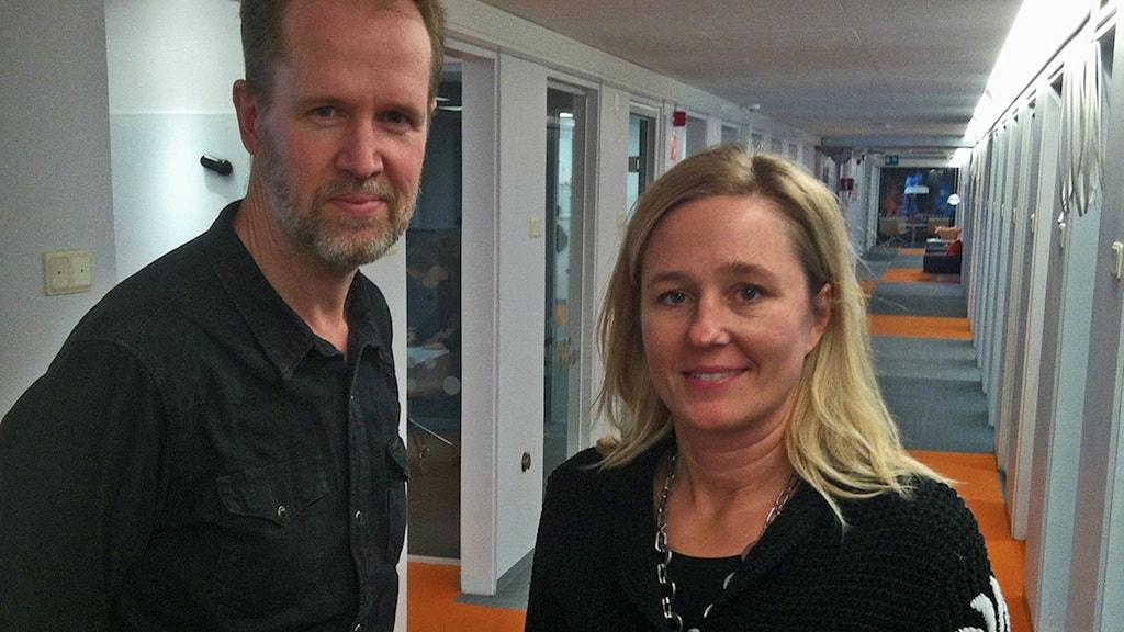 Ola Hemström och Sofia Kottorp Foto: Christer Söderqvist