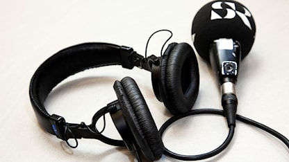 Hörlurar och mikrofon. Foto: Stina Gullander/Sveriges Radio