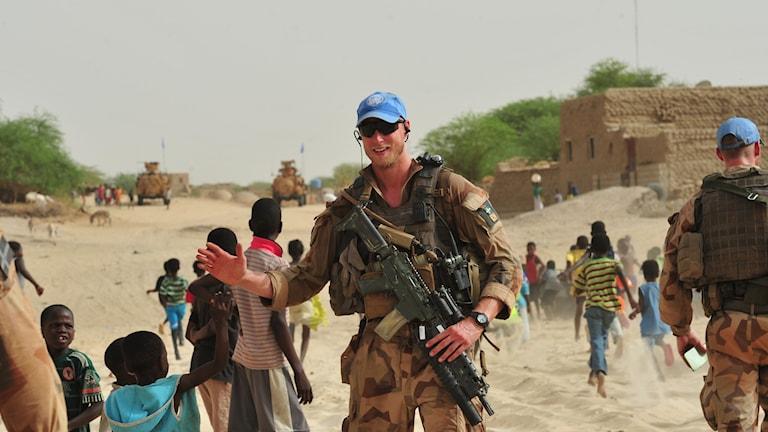 Henrik på plats i Mali.