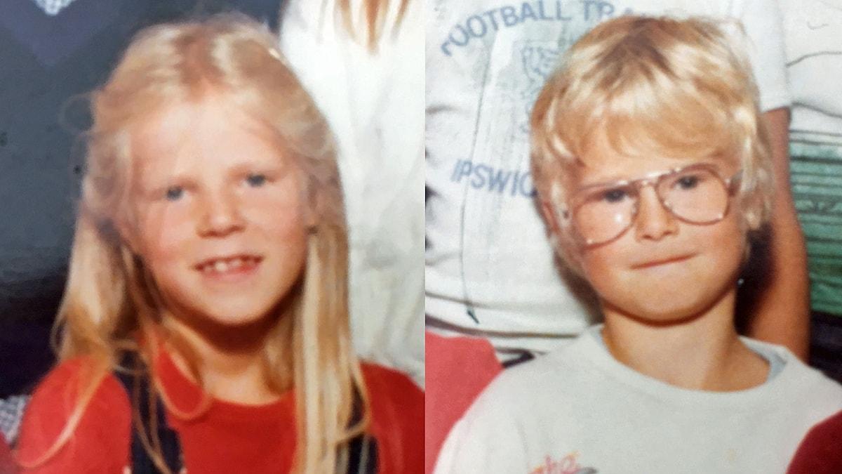 Malin och Jonas i första klass.