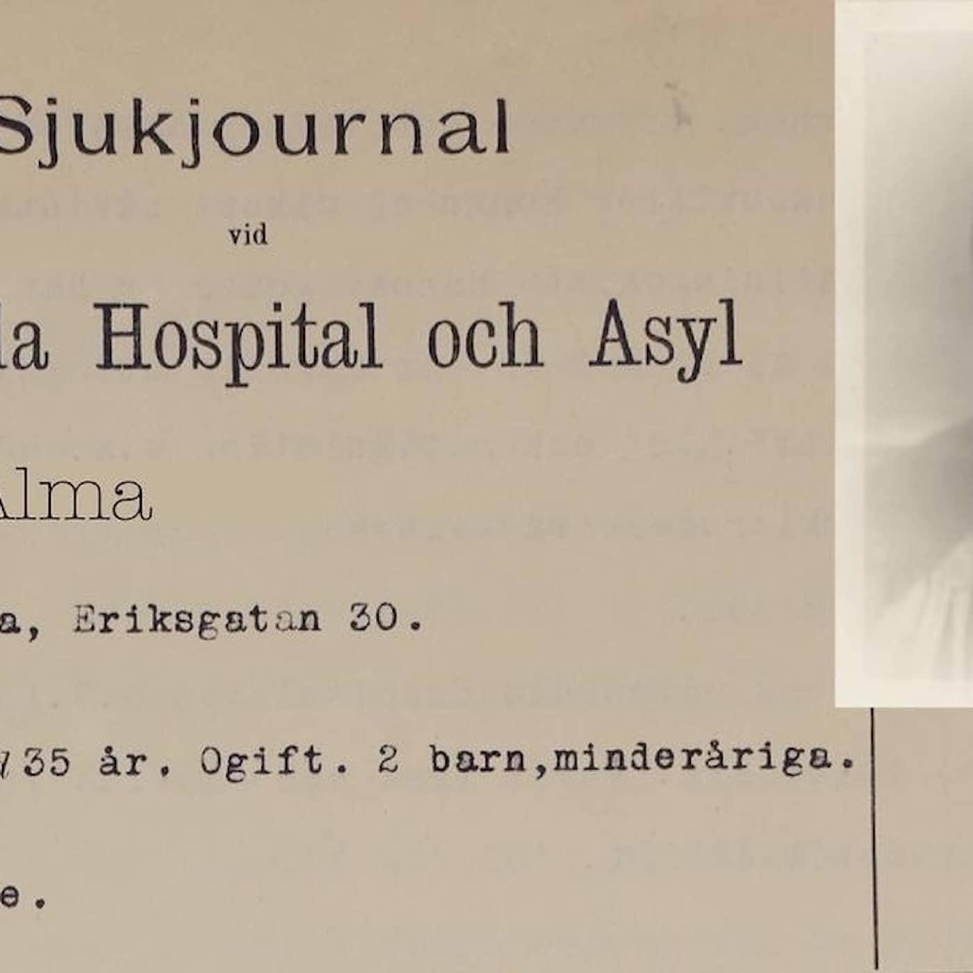 Alma låstes in på hospitalet