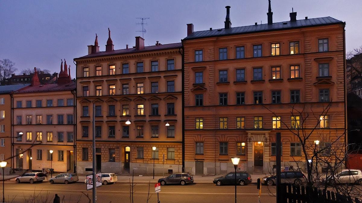 Kvarteret Utkiken längst ner på Folkungagatan i Stockholm