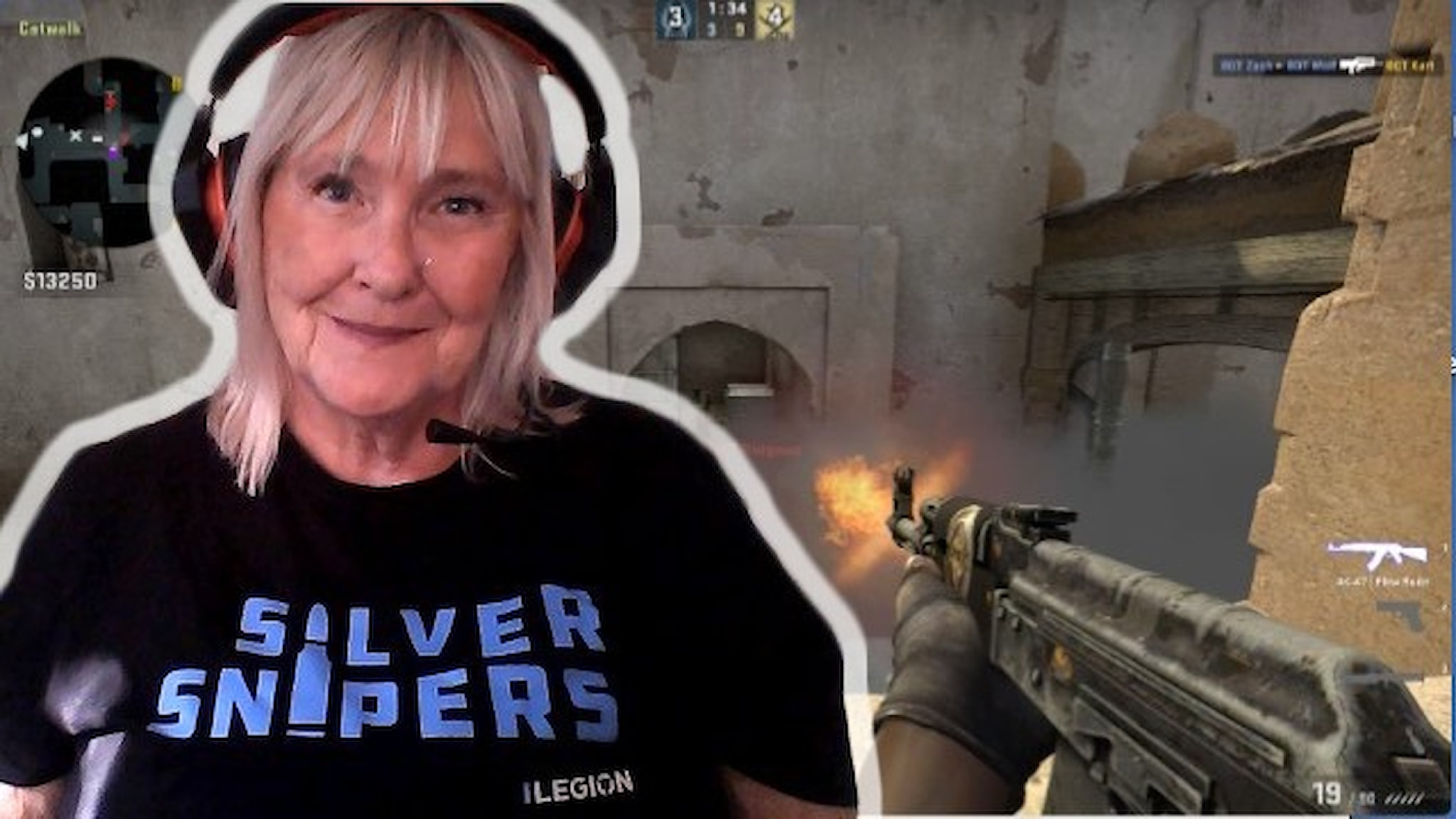 """Inger Grotteblad kallas """"Trigger Finger"""" och spelar i laget Silver Snipers."""