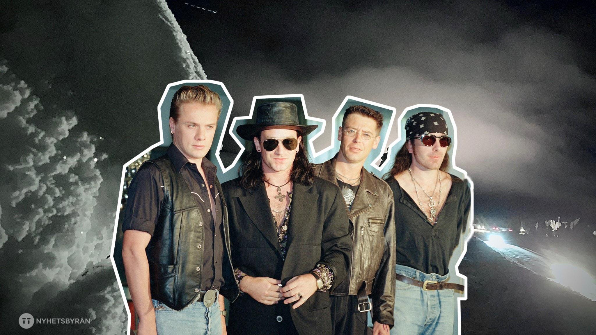 1982 kommer U2 till Sälen för att spela in videon till låten New Years Day.