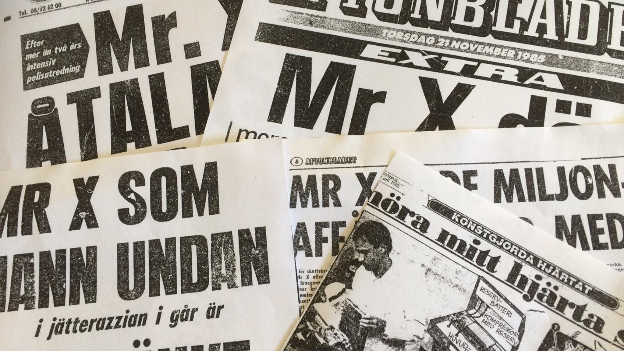 Under 60- och 70-talet skrevs det mycket om Mr X.