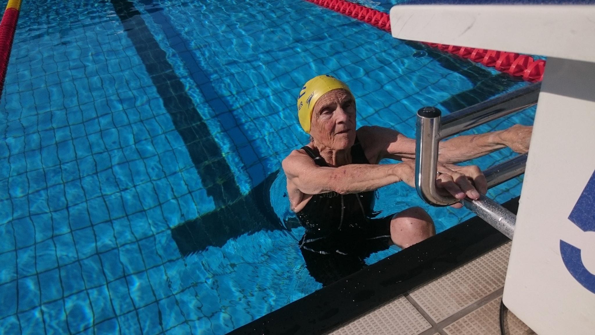 Kerstin är 90 år och siktar på guld.