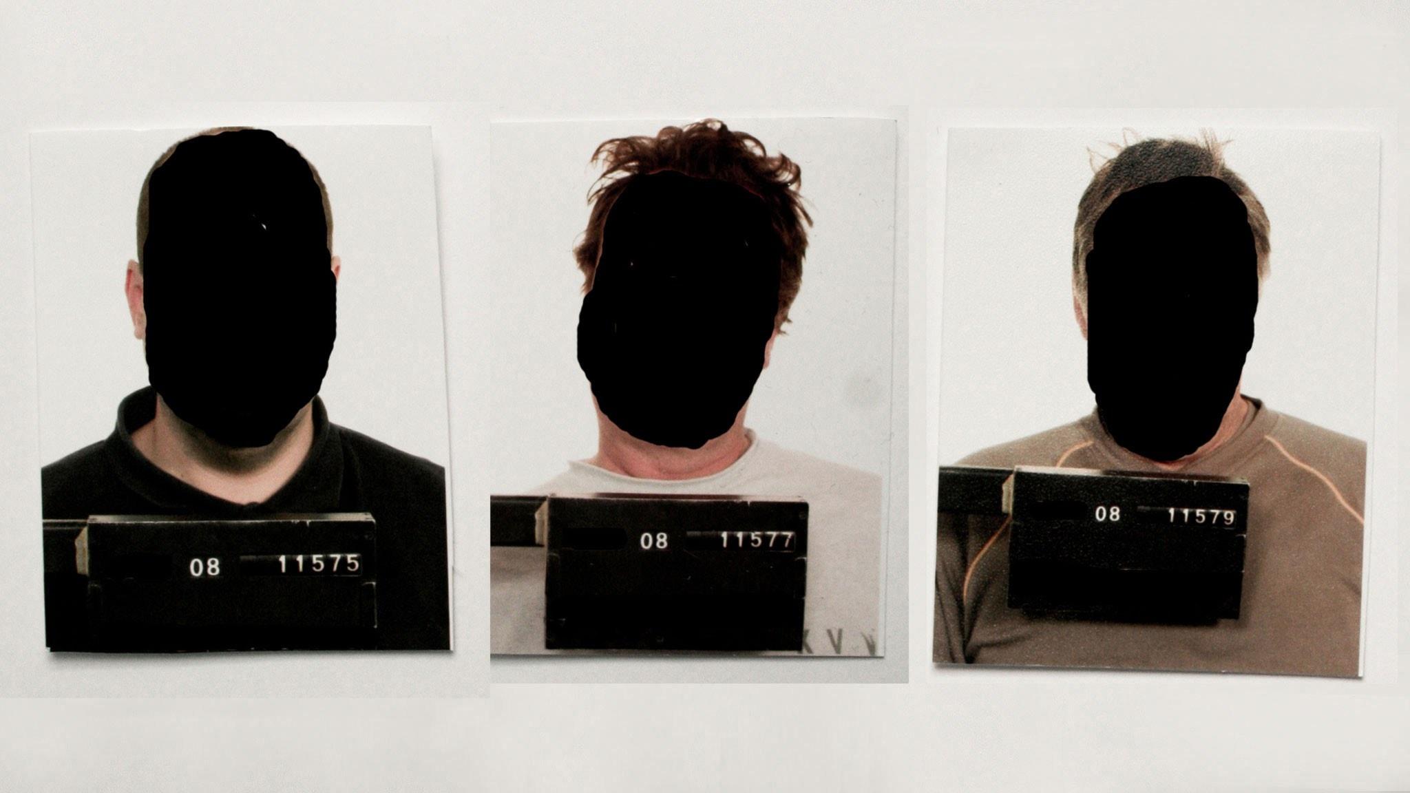 Knivstakuppens tre huvudpersoner. Foto: Polisen