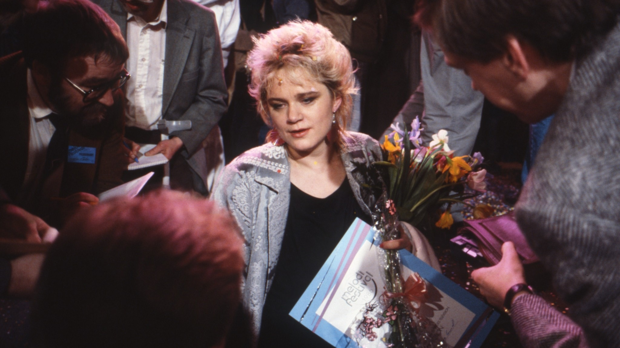 Monica Törnell i Melodifestivalen 1986.