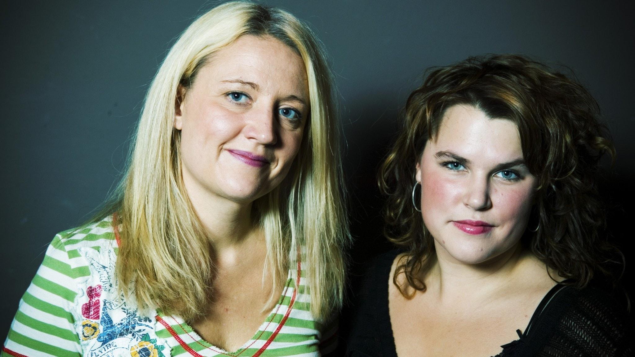 Mia Skäringer och Klara Zimmergren 2005.