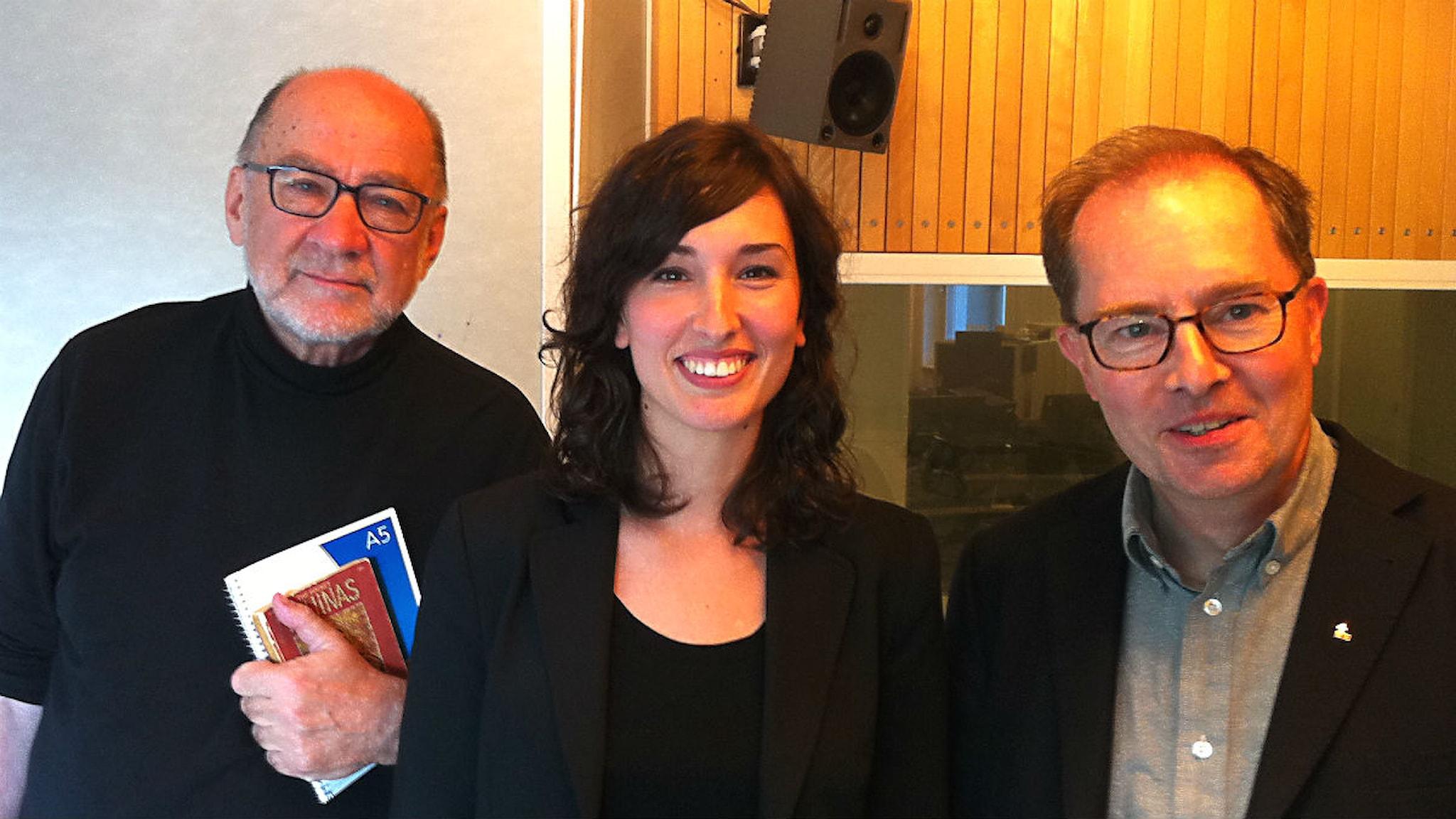 Anders, Jasmina och Ulf. Foto: Peter Sandberg SR