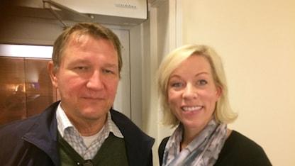Roland Poirier Martinsson och Ginna Lindberg.