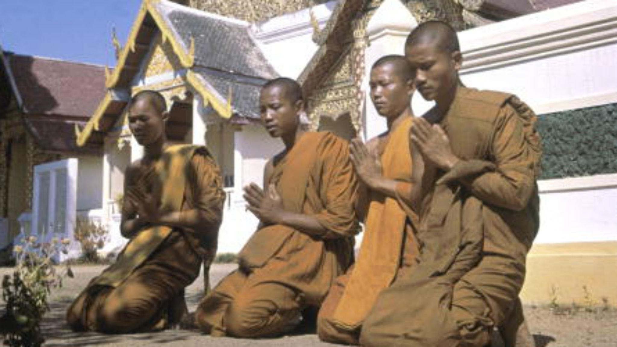 Munkar i Tailand.
