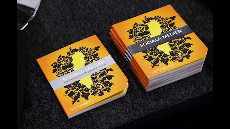 Sociala medier-handboken som presenterades på MEG 2013. Foto: Stina Gullander