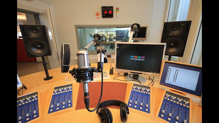 Radiostudio S3 i radiohuset Foto: Nick Näslund/Sveriges Radio