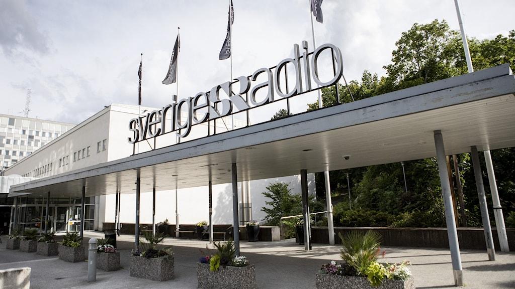 En bild på radiohuset i Stockholm.