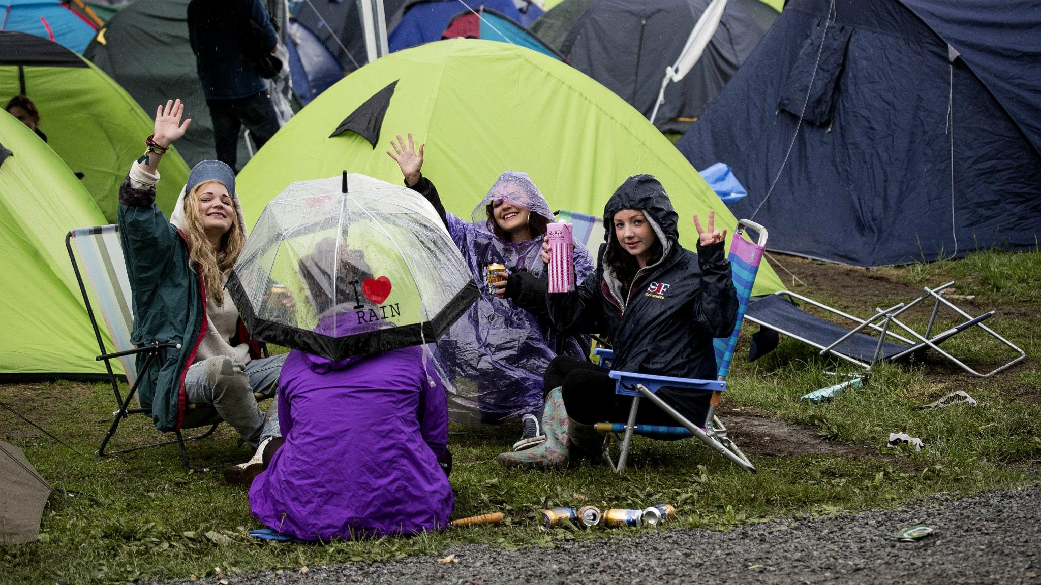 Camping under Hultsfredsfestivalen. Foto: Christine Olsson/TT