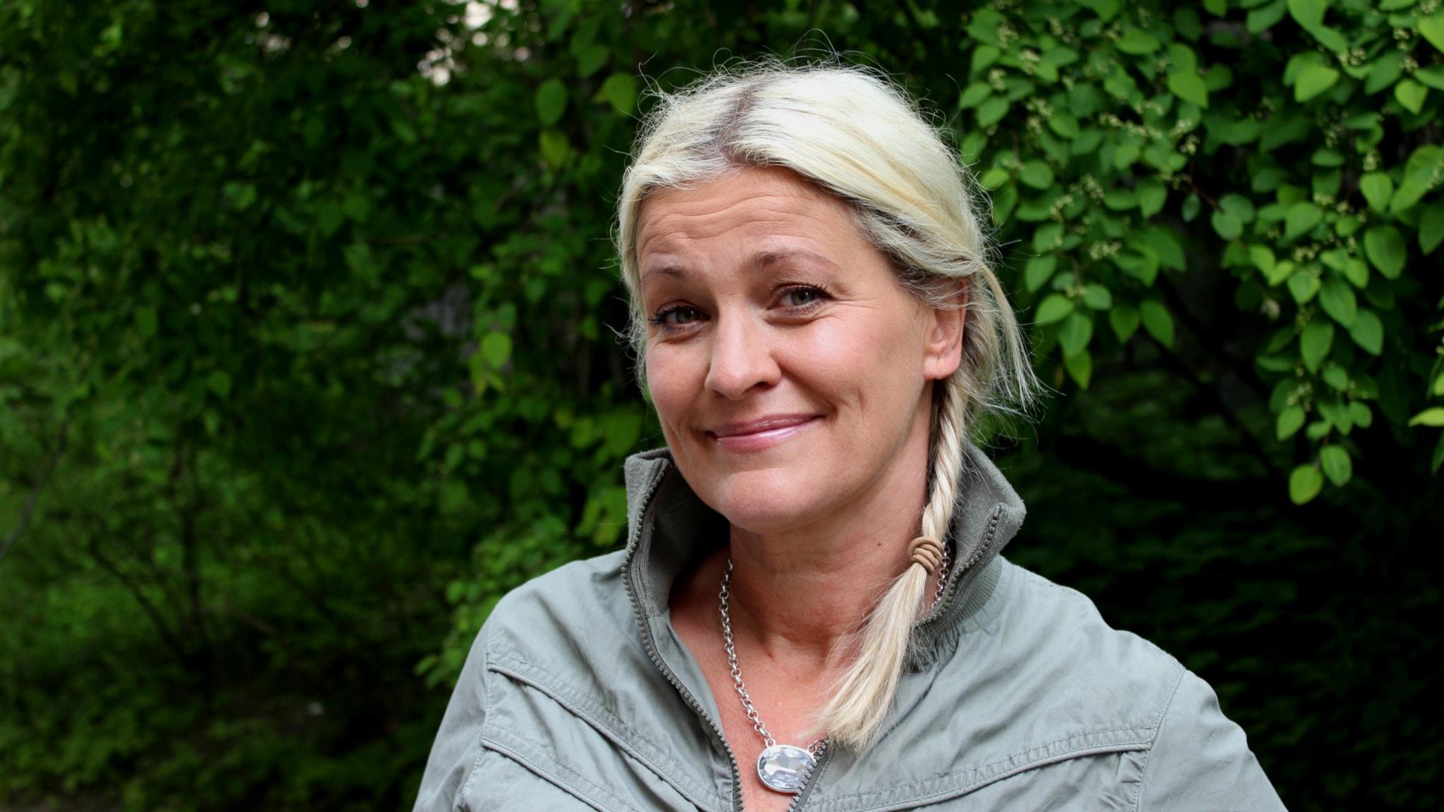 Tina Ahlin. Foto: Linda Aktén/Sveriges Radio