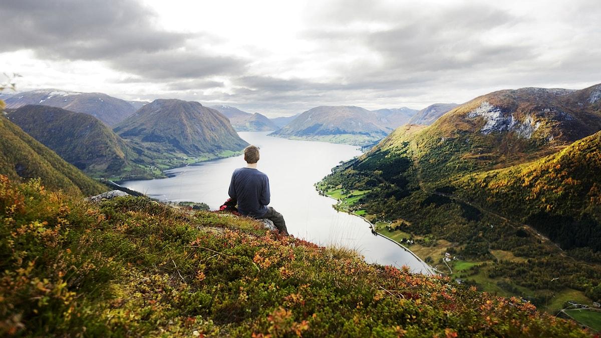 Norska landskap i höstfärger. Foto: Kyrre Lien/Scanpix Norge/TT