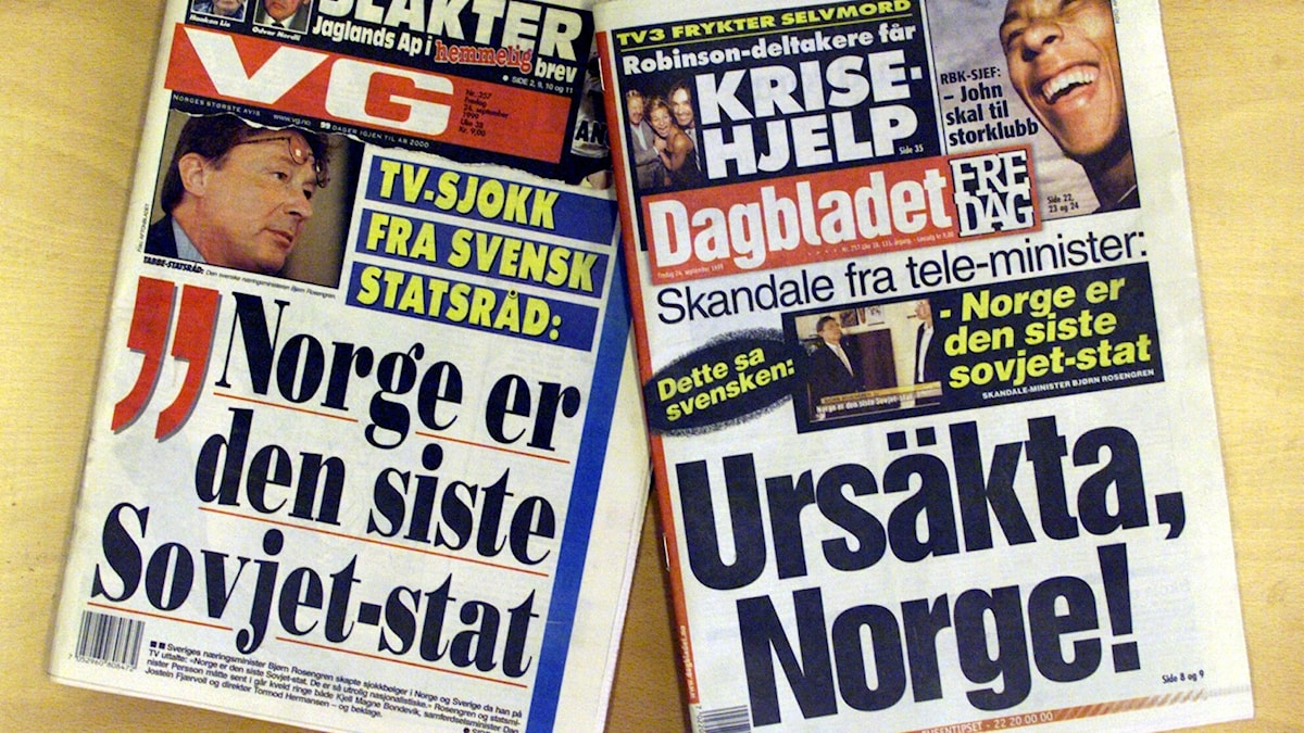 Björn Rosengrens uttalande om Norge som den sista Sovjetstaten