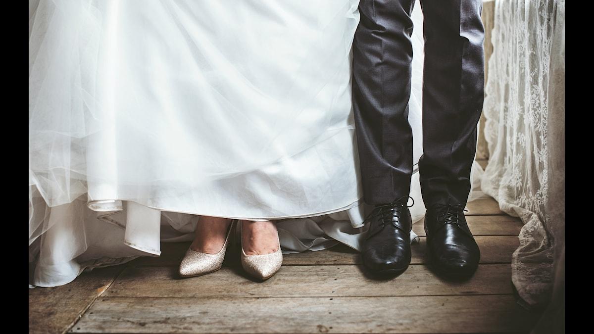 Brudpar, skor