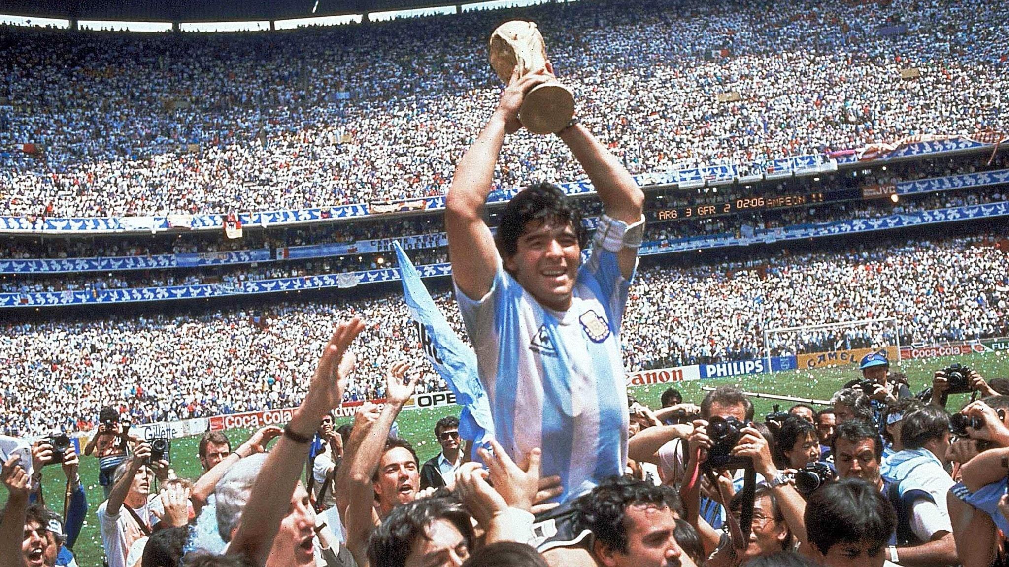 Diego Maradona i VM i Mexiko 1986.