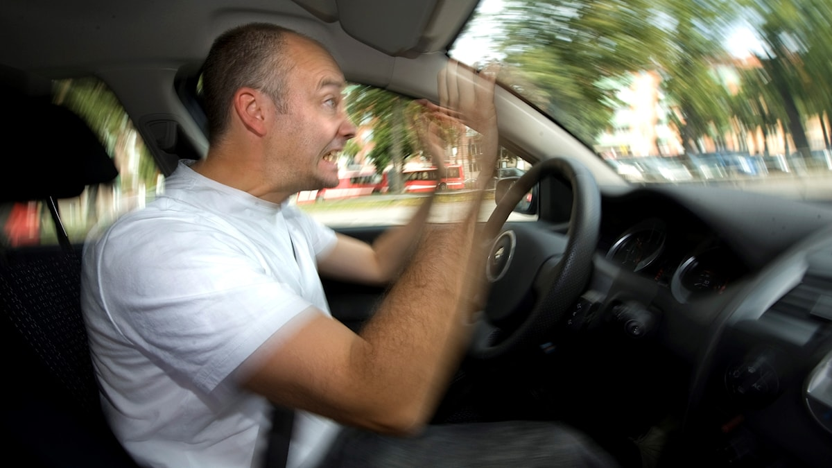 bilförare, upprörd, frustrerad