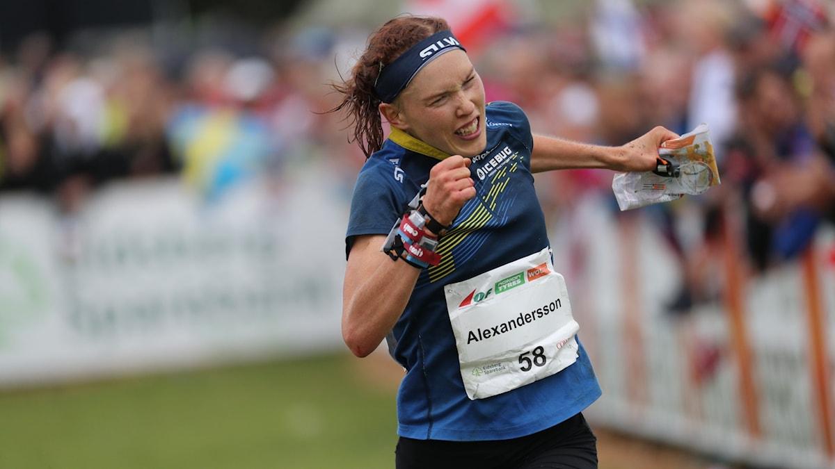 Tove Alexandersson, tog trippla guld i VM i orientering, två individuella och ett stafettguld.