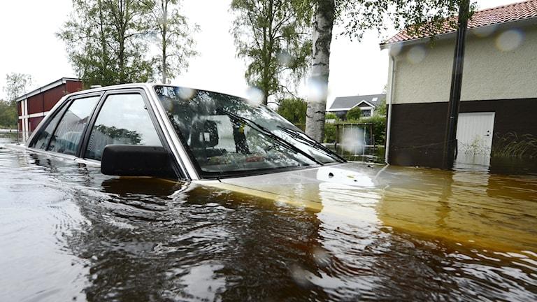 Arkivbild. Översvämning i Småland 2012.