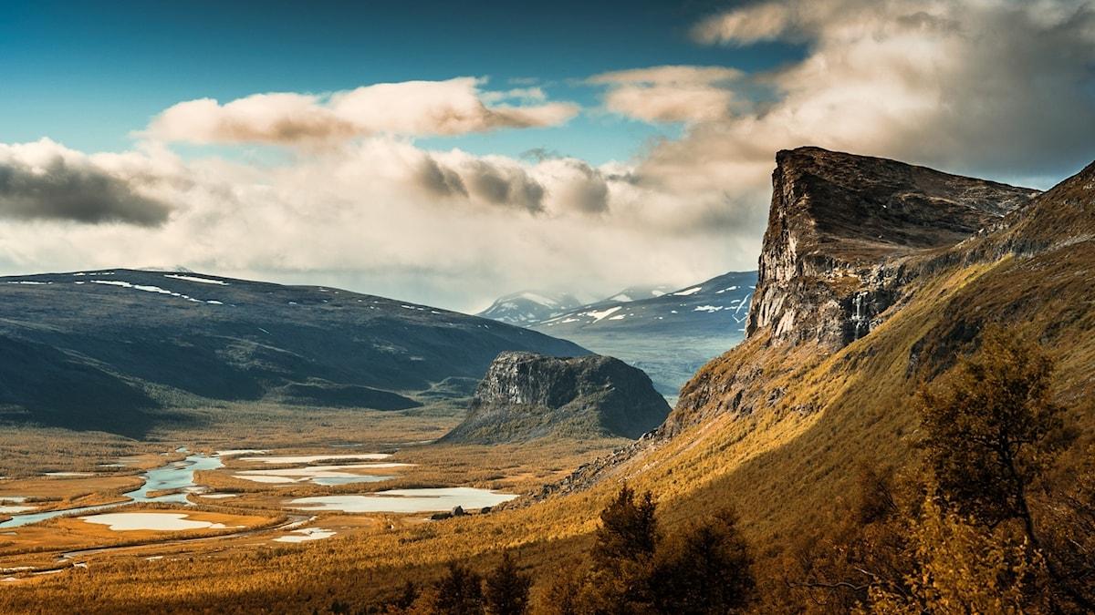 Fjälllandskap i Sareks nationalpark.