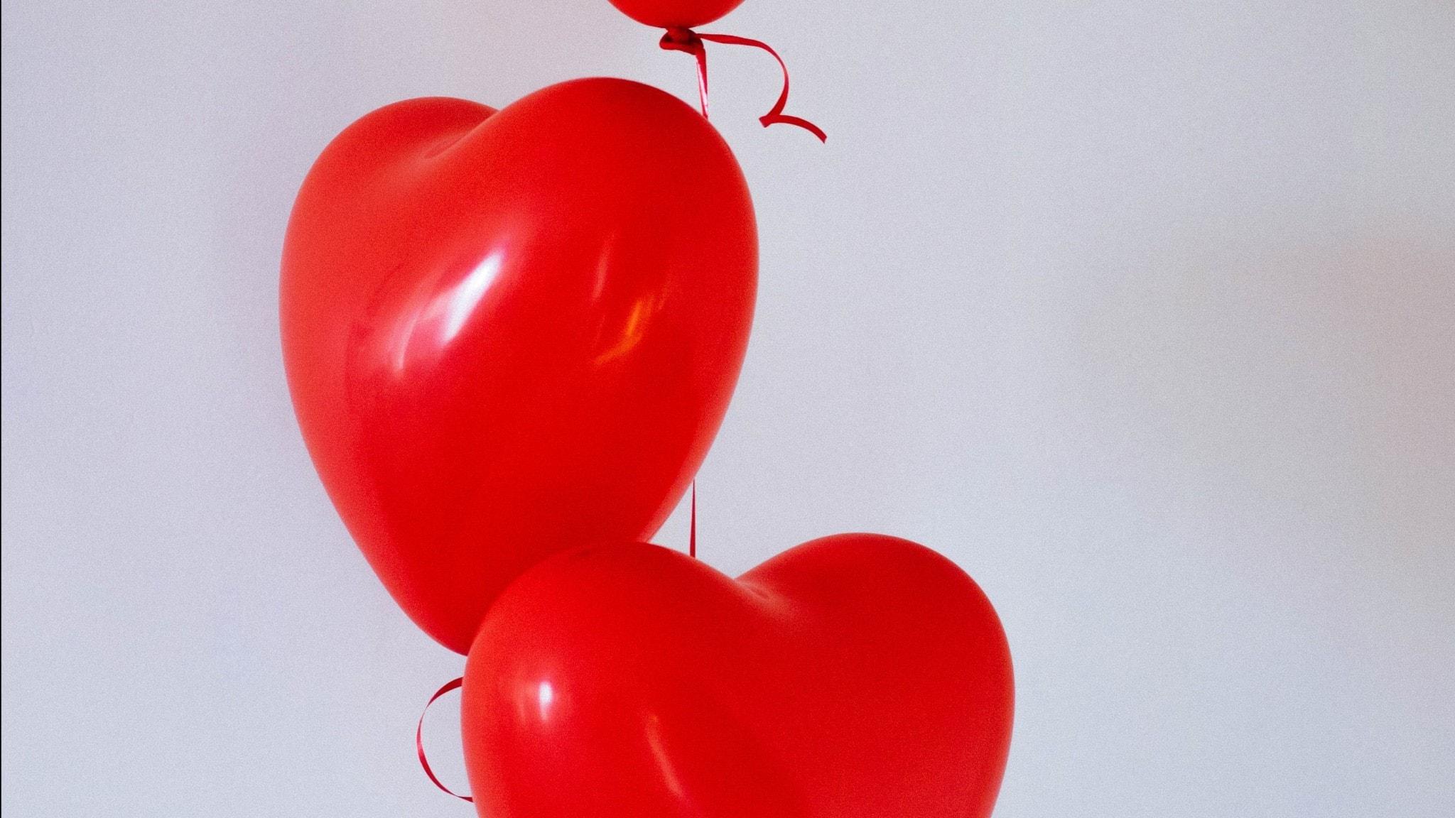 hjärtballonger