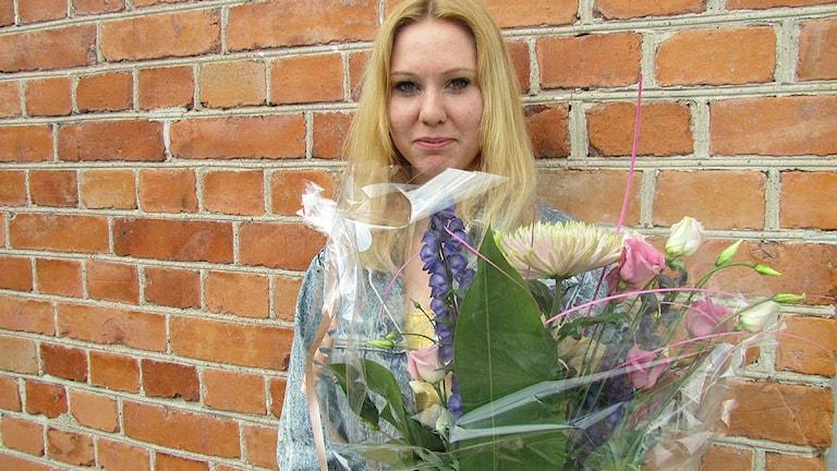 Clara Klingenström, gotlandsvinnare av Svensktoppen Nästa 2012. Foto: Jennie Persson/SR Gotland.