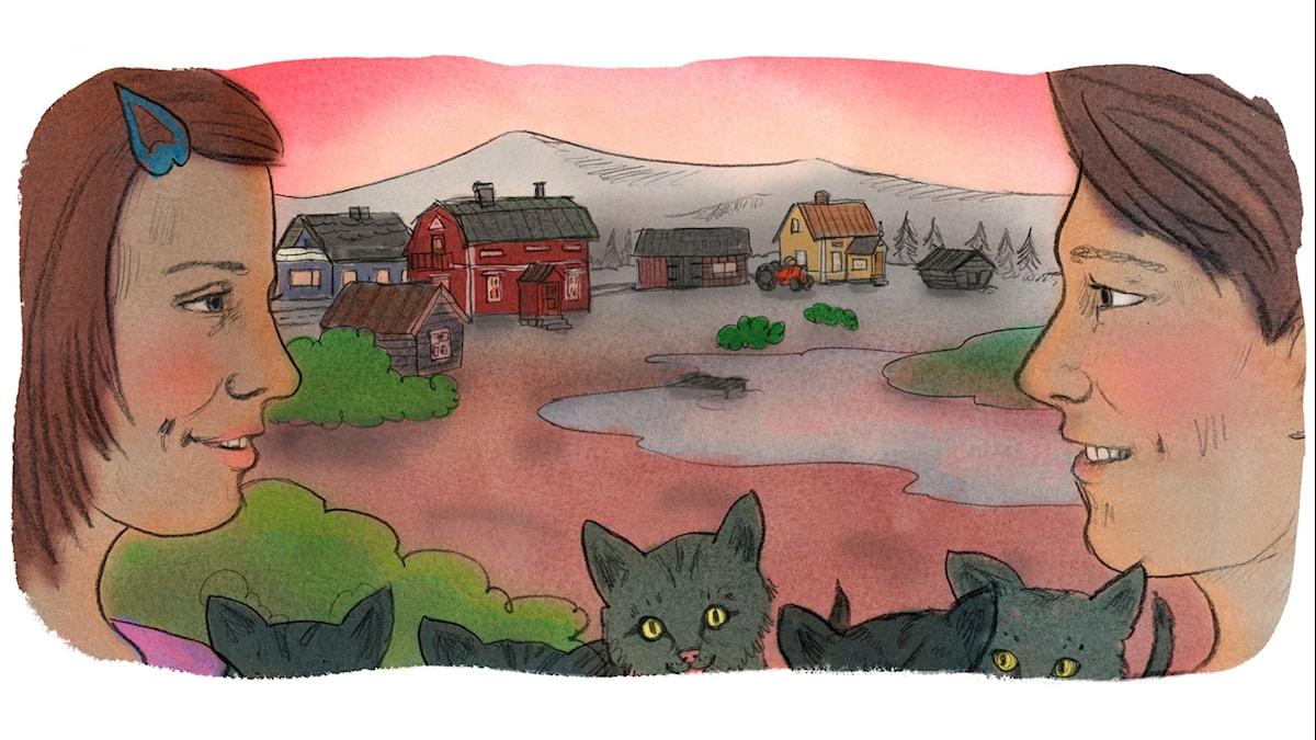 Magiska Skrinet: Julia och Mäntyjärvi Lucas, illustration: Ingrid Flygare