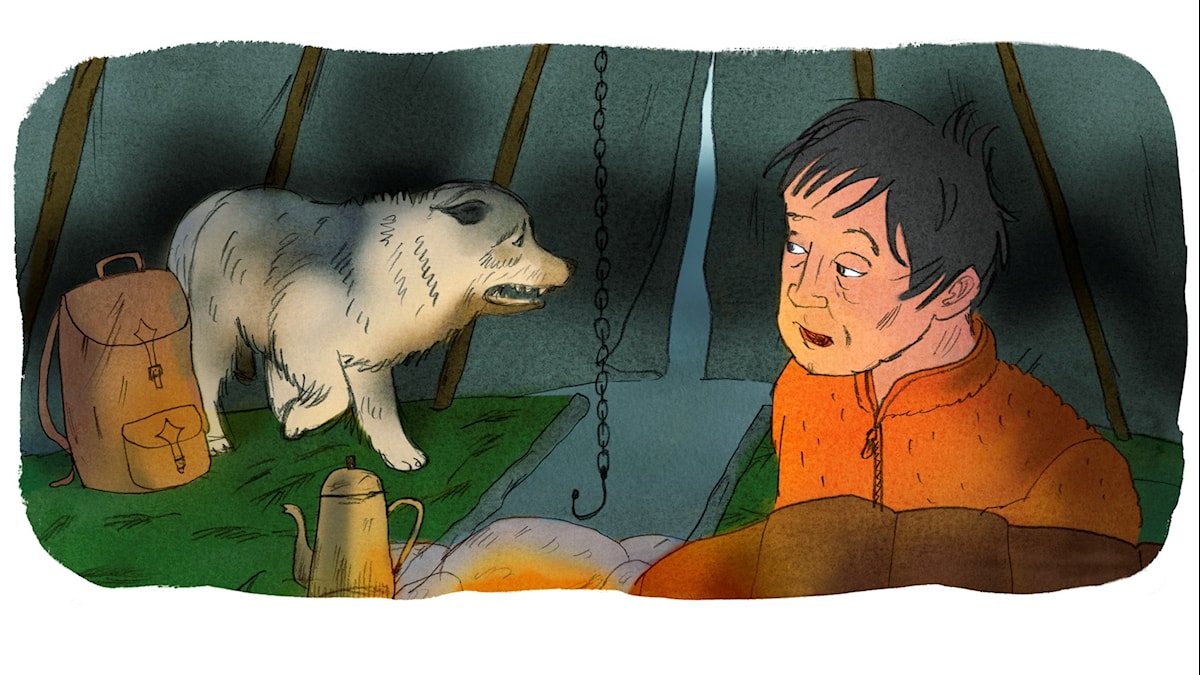 Magiska Skrinet: Hundarna skriar, illustration: Ingrid Flygare