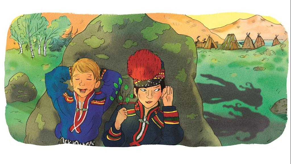 Magiska Skrinet: Haldi, illustration: Ingrid Flygare