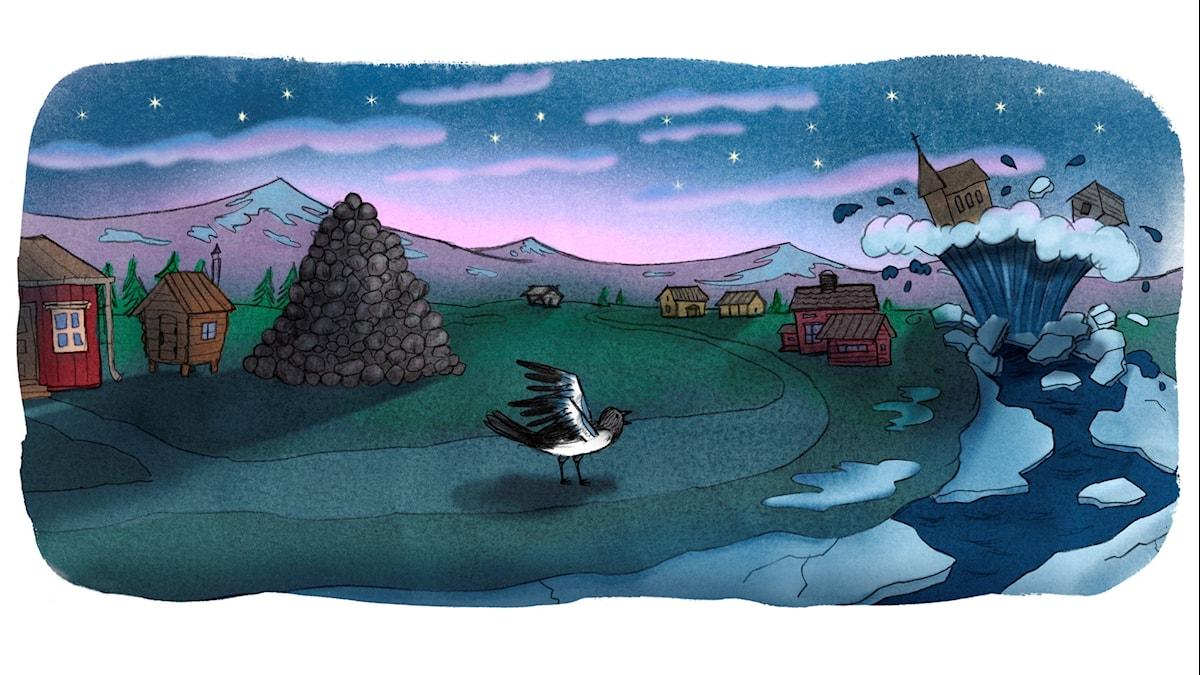 Magiska skrinet: Nille Stensamlare. Illustration: Ingrid Flygare