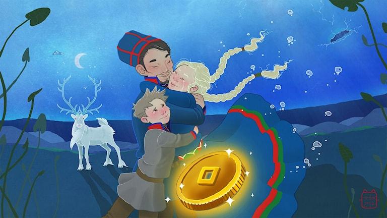 Elsa i Saajvoe-kungens rike, del 5. Illustratör: Emma Fox Sandberg