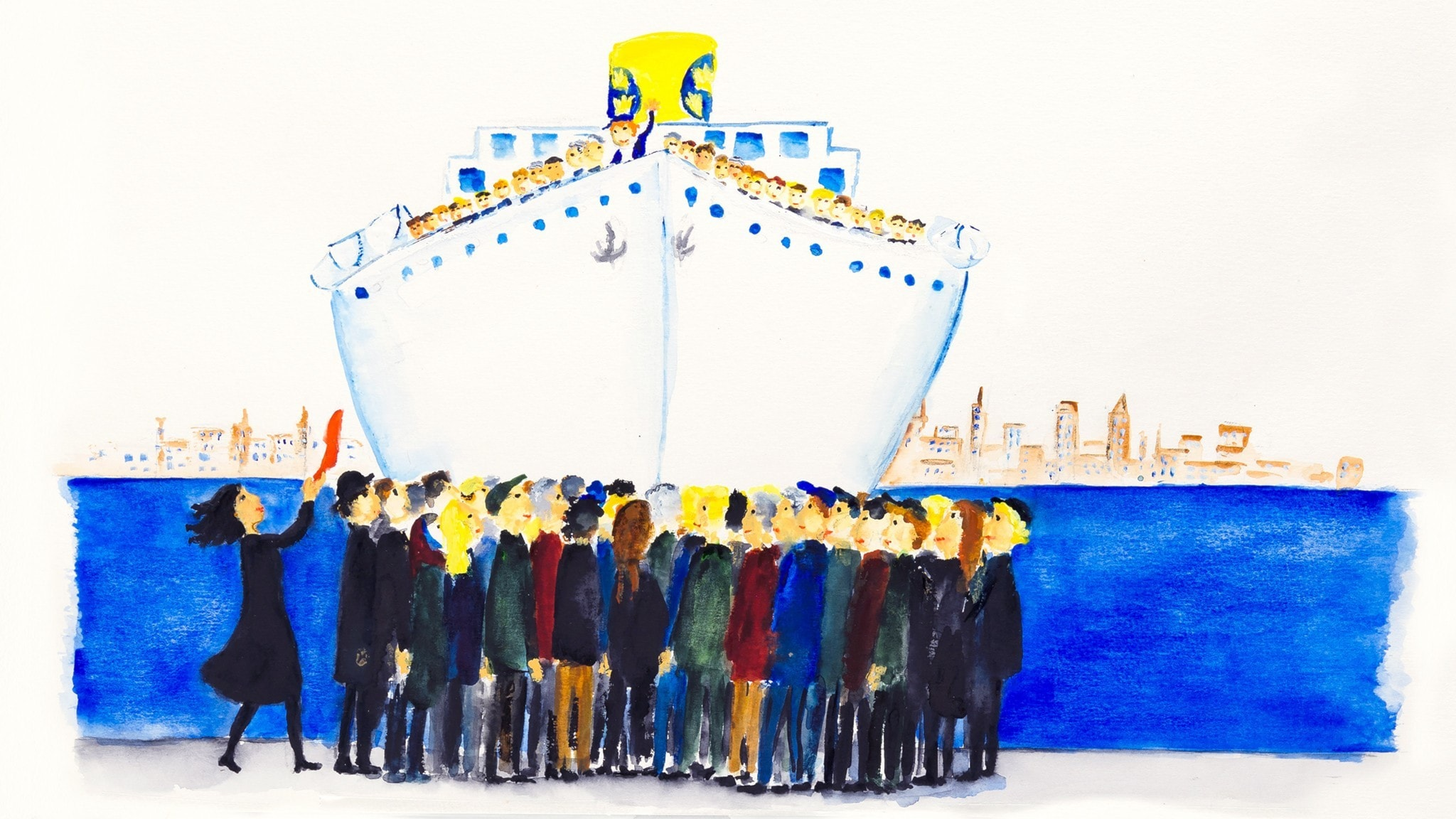 Eli kommer till Luli med Amerikabåten. Bild: Rebecka Lagercrantz