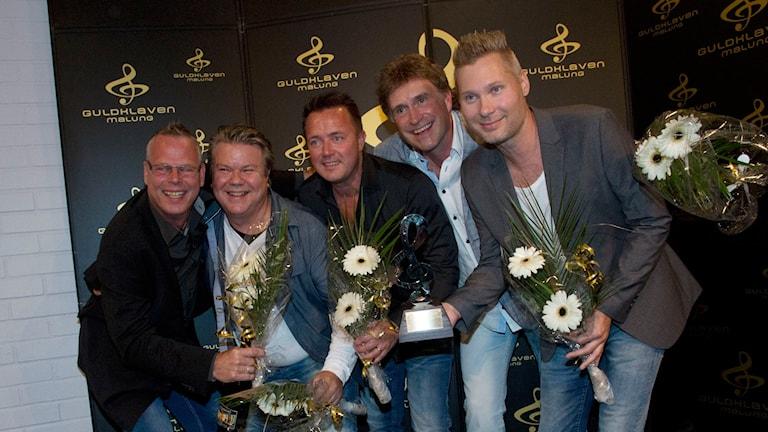 Årets album-vinnarna Streaplers vid Guldklaven 2015. Foto: Stina Gullander/Sveriges Radio.