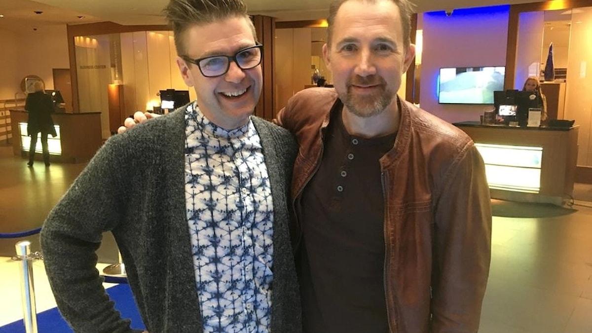 Thomas Lundin, sidekick på P4 Dans och Stefan Brunzell
