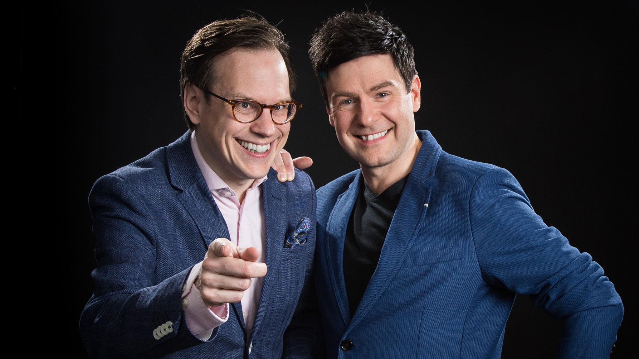 Thomas Deutgen och Thomas Lundin. Foto: Micke Grönberg/Sveriges Radio.