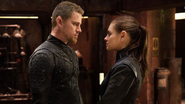 Channing Tatum och Mila Kunis i Jupiter Ascending. Foto: Fox Movies.